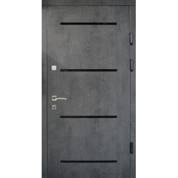 Двери Термопласт Комфорт 21-37 бетон темный/ бетон светлый