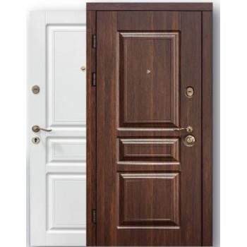 """Двери  """"Steelguard"""" MAXIMA TermoScreen (Термоскрин) ОРЕХ ТЕМНЫЙ/ БЕЛЫЙ МАТ"""