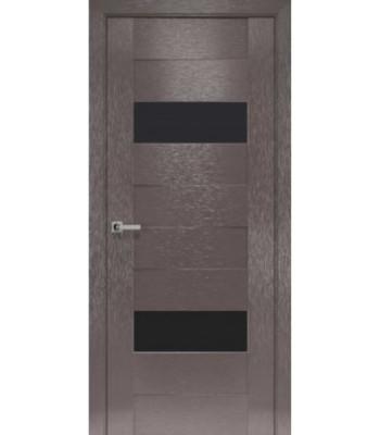 Двери Новый Стиль коллекция Orni-X Женева Х-мокко черное стекло