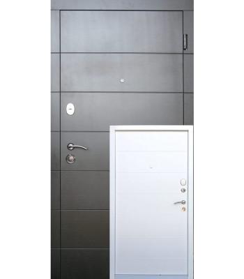 Двери входные REDFORT Стандарт плюс Элегант УЛИЦА белые внутри ДВУХЦВЕТНАЯ РАМА