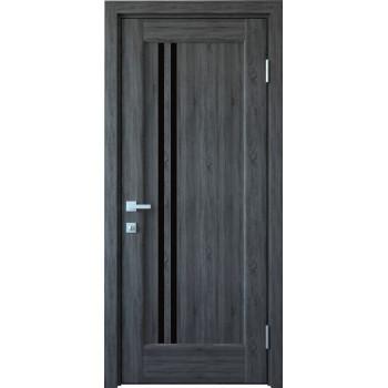 Двери Новый Стиль Делла грей черное стекло