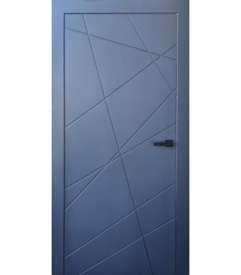 Двери межкомнатные Эстет Диагональ графит