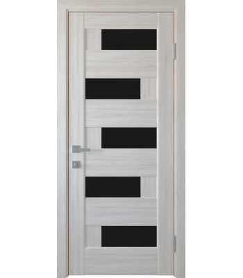 Двери Новый Стиль Пиана ясень нью черное стекло