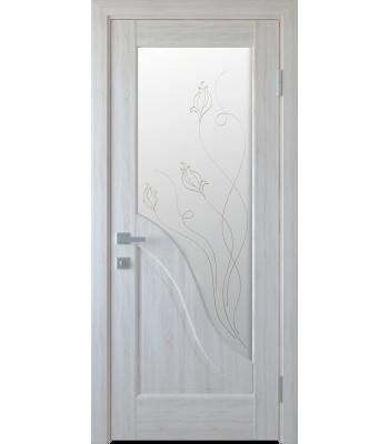 Двери Новый Стиль АМАТА со стеклом Р2 ясень нью