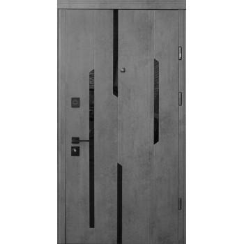 Двери Страж LUX STANDART Mirage бетон темный-бетон светлый