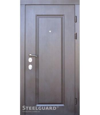Двери STEELGUARD DP-1 венге темный/белое дерево