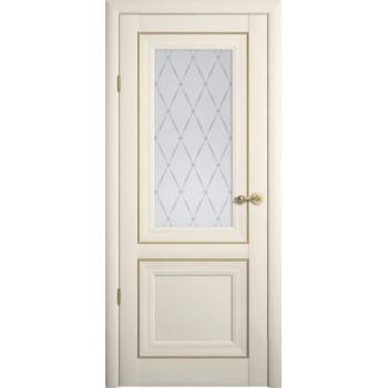 Межкомнатные двери Albero Прадо стекло гранд  Vinil ваниль