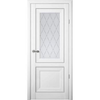 Межкомнатные двери Albero Прадо стекло гранд Vinil белый