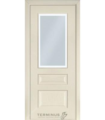 Межкомнатные двери Терминус модель 102 ясень крема стекло
