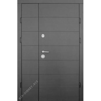 Входные двери Форт Трио Горизонталь 1200*2050 венге УЛИЦА