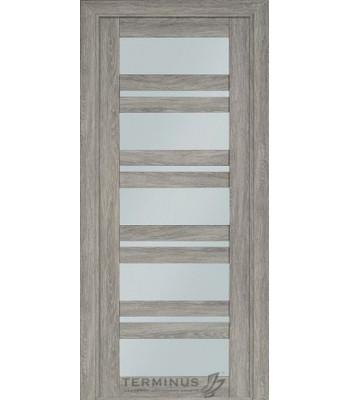 Межкомнатная дверь Терминус Nanoflex модель 107 остекленная эскимо