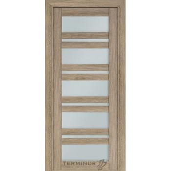 Межкомнатная дверь Терминус Nanoflex модель 107остекленная мускат