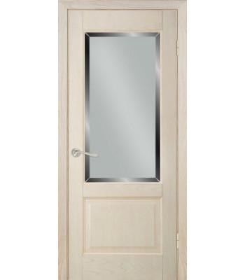 Межкомнатные двери Терминус модель 04 стекло ясень крема