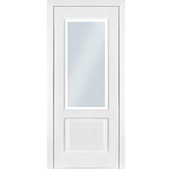 Межкомнатные двери Терминус модель 04 стекло ясень белый