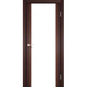 Межкомнатные двери KORFAD SANREMO SR-01 орех белое стекло