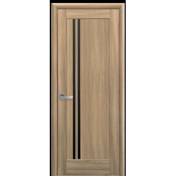 Двери Новый Стиль Делла золотой дуб черное стекло