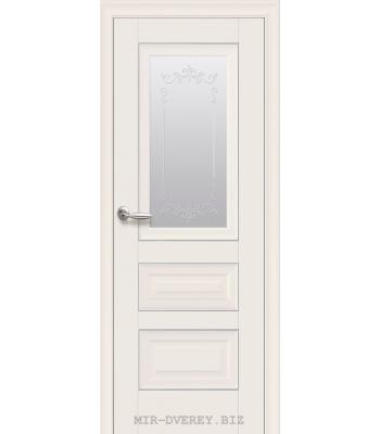 Двери Новый Стиль СТАТУС СТЕКЛО САТИН С МОЛДИНГОМ МАГНОЛИЯ
