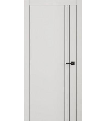 Двери межкомнатные Омега Lines L 7RAL / KEMICHAL + молдинг AL Black