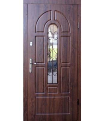 Входные двери Форт Эконом+притвор Арка дуб темный УЛИЦА