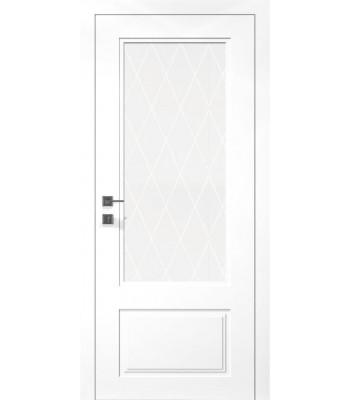 Двери Rodos Cortes Galant белая эмаль со стеклом