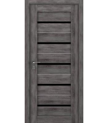 Двери Rodos Modern Lazio дуб шале полустекло черное