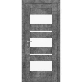Двери Rodos Modern Polo со стеклом серый мрамор