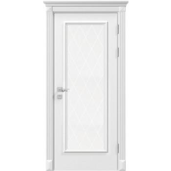 Двери Rodos Siena Asti белая эмаль со стеклом с гравировкой