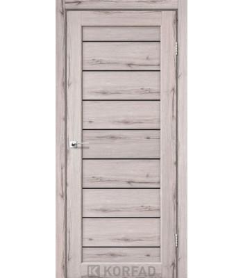 Межкомнатные двери KORFAD PIANO DELUXE PND-01 дуб нордик черное стекло