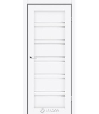 Двери Leador SICILIA белый матовый стекло сатин