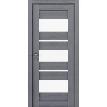 Двери Rodos Modern Polo со стеклом каштан серый
