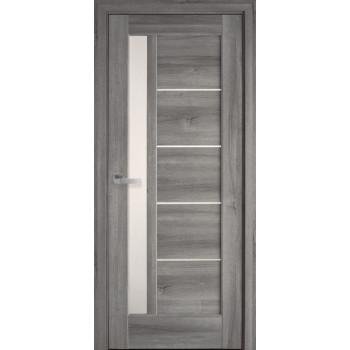 Двери Новый Стиль Грета дуб пепельный стекло сатин