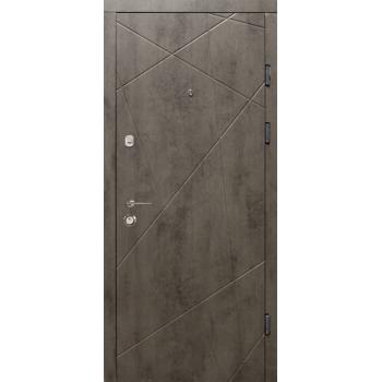 Двери MAGDA Тип-2 КВАРТИРА модель 100 бетон темный/бетон светлый