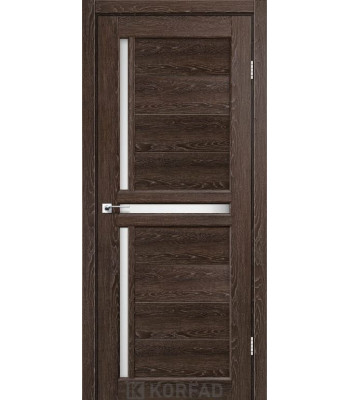 Межкомнатные двери KORFAD SCALEA SC-04 дуб марсала стекло сатин