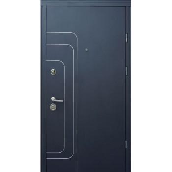 Двери Страж LUX STANDART  ТРЭК Антрацит / Белое Дерево