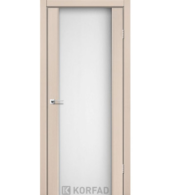 Межкомнатные двери KORFAD SANREMO SR-01 дуб беленый стекло белое