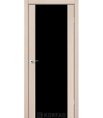 Межкомнатные двери KORFAD SANREMO SR-01 дуб беленый черное стекло