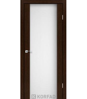 Межкомнатные двери KORFAD SANREMO SR-01венге белое стекло