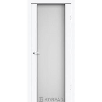 Межкомнатные двери KORFAD SANREMO SR-01 ясень белый белое стекло