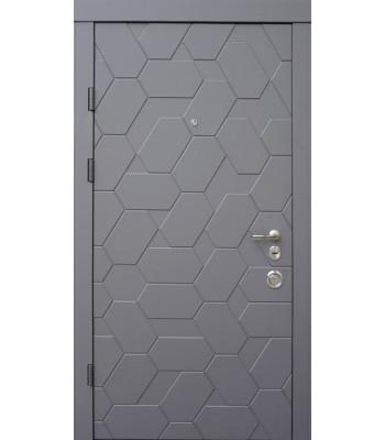 Двери Qdoors АВАНГАРД Поло серый элегант/белый супер мат