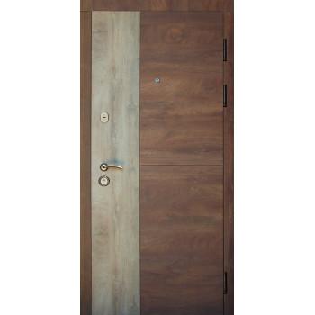Двери входные REDFORT Комфорт Соната (три контура), спил дерева коньячный квартира