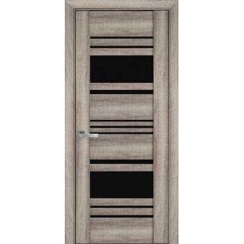 Двери Новый Стиль Ницца бук баварский черное стекло