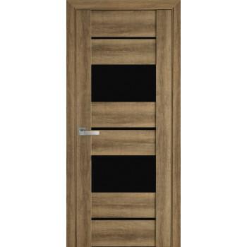 Двери Новый Стиль Аскона бук шато черное стекло