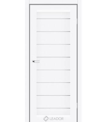 Двери Leador Neapol белый матовый стекло сатин