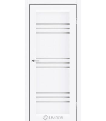 Двери Leador Sovana белый матовый стекло сатин