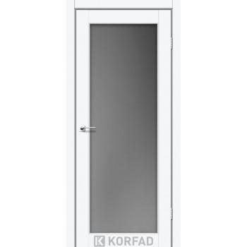 Межкомнатные двери KORFAD SANVITO SV-01 ясень белый стекло сатин
