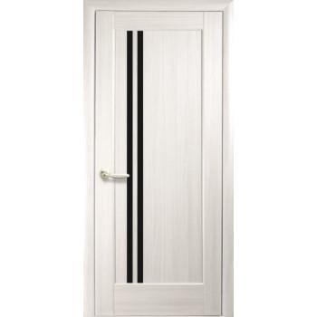 Двери Новый Стиль Делла ясень черное стекло