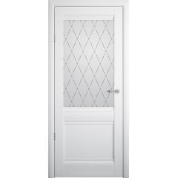 Межкомнатные двери Albero Рим стекло гранд Vinil белый