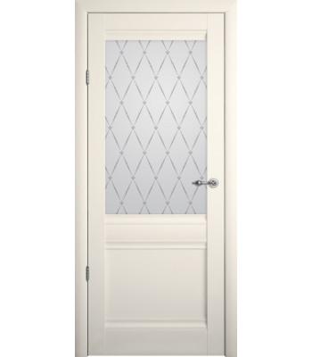Межкомнатные двери Albero Рим стекло гранд Vinil ваниль
