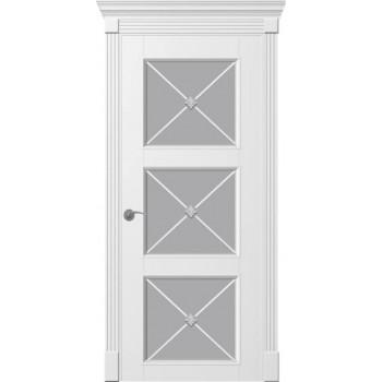 Двери TESSORO К4 Х ПОО  Woodok белая эмаль
