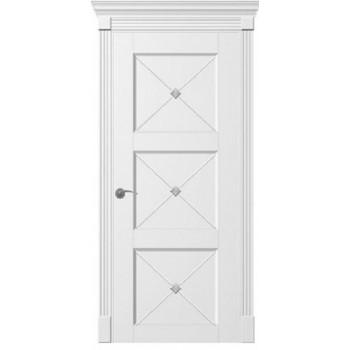 Двери TESSORO К4 Х ПГ  Woodok белая эмаль